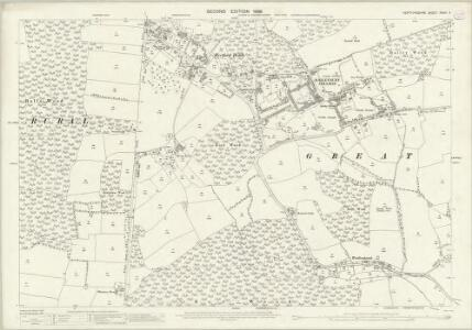 Hertfordshire XXXVI.4 (includes: Brickendon Liberty; Great Amwell; Hoddesdon; Little Amwell; Stanstead St Margaret) - 25 Inch Map