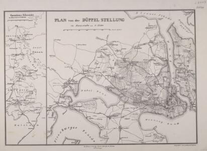 Plan von der Düppel-Stellung