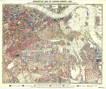 Charles Booth's descriptive map of London poverty 1889