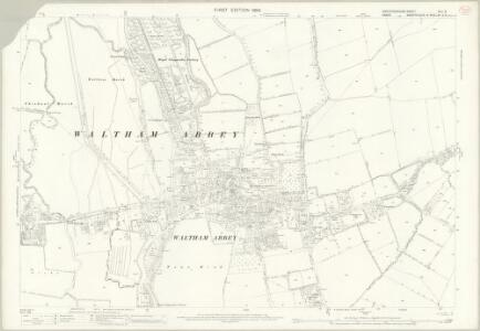 Hertfordshire XLII.9 (includes: Cheshunt; Waltham Holy Cross) - 25 Inch Map