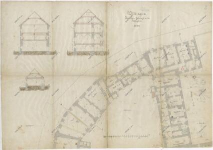 Plán traktu třeboňského kláštera 1