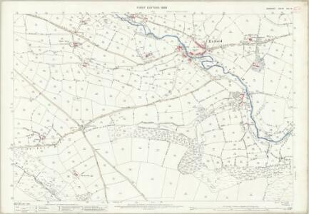 Somerset XLV.12 (includes: Exford; Winsford; Withypool) - 25 Inch Map