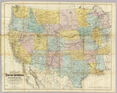 National Map Of The Territory Of The United States.