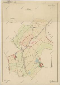Mapa pozemků Nového a Starého Dvora