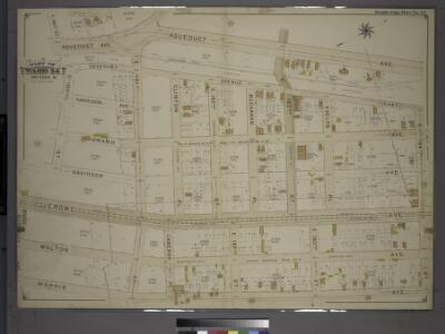 Double Page Plate No. 24, Part of Ward 24, Section 11. [Bounded by E. 180th Street, Aqueduct Avenue, E. 184th Street, Morris Avenue and Burnside Avneue.]