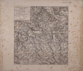 Uebersicht der Stellungen der Preussischen Armee in Sachsen unter dem Prinzen Heinrich im Feldzuge 1762