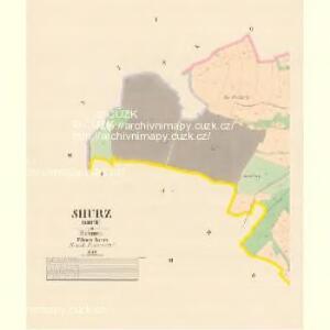Shurz (Shuř) - c9264-1-001 - Kaiserpflichtexemplar der Landkarten des stabilen Katasters