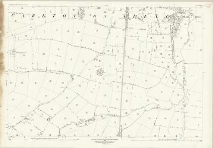 Nottinghamshire XXV.11 (includes: Carlton On Trent; Cromwell; Norwell) - 25 Inch Map