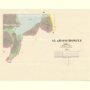 Slaboschowitz - c7035-1-005 - Kaiserpflichtexemplar der Landkarten des stabilen Katasters