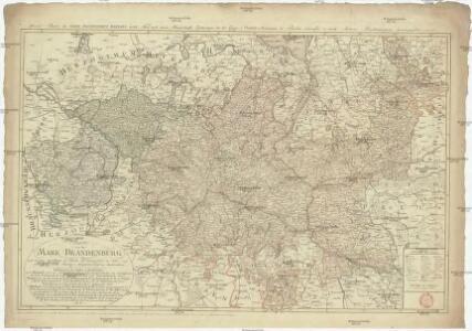 Karte von der Mark Brandenburg