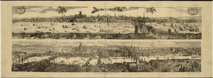 Views of London in 1616 and 1890