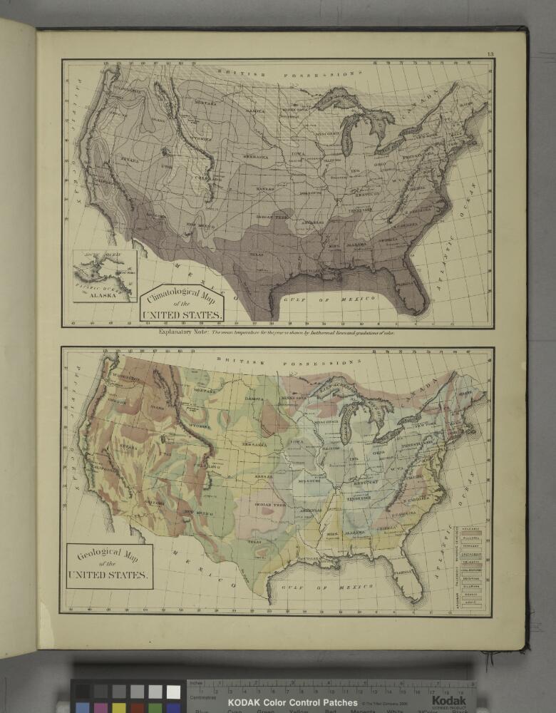 Geological Map Of United States.Climatological Map Of The United States Geological Map Of The