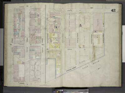 [Plate 42: Map bounded by Avenue A, East 15th Street, Avenue C, East 13th Street; Including East 14th Street; Map bounded by Avenue C, East River, East 13th Street; Including Avenue D, Tompkins Street, East 14th     Street, East 15th Street, East 16th