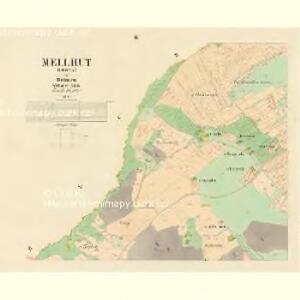 Mellhut (Lhota) - c2558-2-003 - Kaiserpflichtexemplar der Landkarten des stabilen Katasters