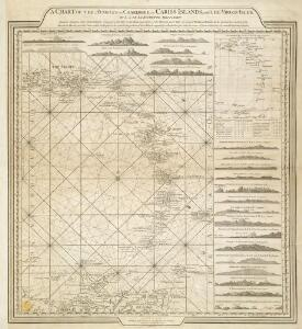 A CHART OF THE ANTILLES, or, CHARIBBE, or, CARIBS ISLANDS, WITH THE VIRGIN ISLES