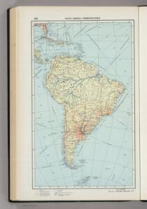 220.  South America, Communications.  The World Atlas.