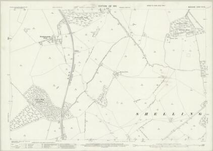 Berkshire VIII.14 (includes: Fernham; Great Faringdon; Little Coxwell; Shellingford) - 25 Inch Map