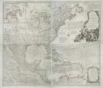 A new and correct map of North America with the West India Islands : divided according to the last treaty of peace, concluded at Paris, 10th Feby. 1763 ; wherein are particularly distinguished, the several provinces and colonies, which compose the Britis
