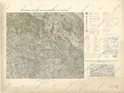 Generalkarte zum Kriegsspielplan von Trautenau