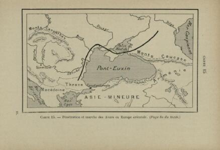 Pénétration et marche des Avars en Europe orientale