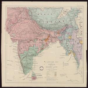 Language Map Of India And Ist Border Lands