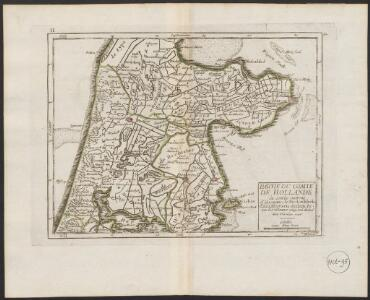 Partie du Comté de Hollande où sont les environs d'Alcmaar, de Medenblick, d'Enckhuysen, dEdam &c.