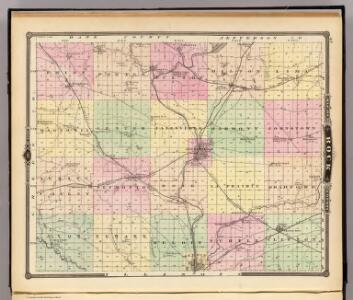 Map of Rock County, State of Wisconsin.