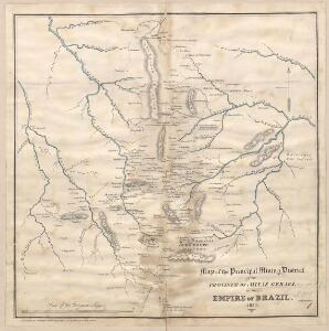 Map of the principal Mining District of the Province of Minas Geraes in the Empire of Brazil