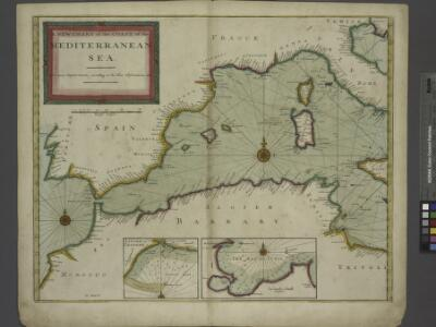 A new chart of the coast of the MEDITERRANEAN SEA