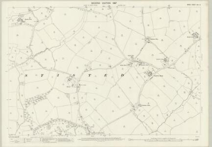 Essex (1st Ed/Rev 1862-96) XXV.8 (includes: Stisted) - 25 Inch Map