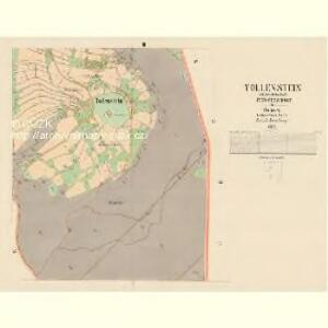 Tollenstein - c6580-2-003 - Kaiserpflichtexemplar der Landkarten des stabilen Katasters
