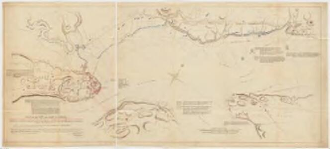 Plan of the town and basin of Quebec : and part of the adjacent country shewing the principal encampments and works of the British army commanded by Major Genl. Wolfe and those of the French army by Lieut. Genl. the Marquis of Montcalm during the attack in 1759