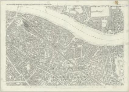 London (First Editions c1850s) XLV (includes: Bermondsey; London; Stepney) - 25 Inch Map