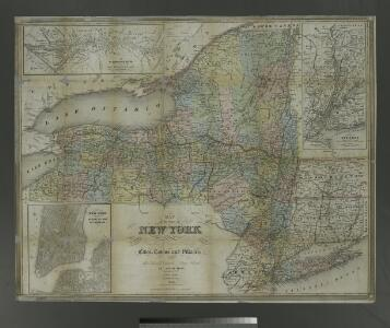 Map of the state of New York: showing the boundaries of counties & townships, the location of cities, towns and villages, the courses of rail roads, canals & stage roads / by J. Calvin Smith; engraved on steel by Sherman & Smith.