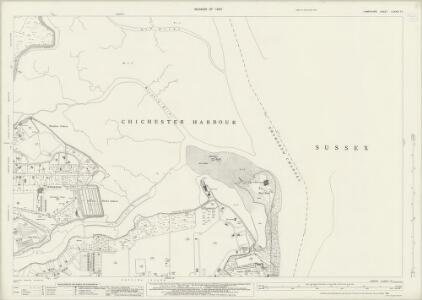 Hampshire and Isle of Wight LXXXIV.12 (includes: Havant; West Thorney; West Wittering) - 25 Inch Map