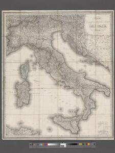Carta geografica statistica e postale dell'Italia