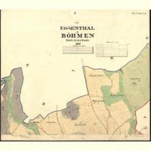Rosenthal - c6603-1-001 - Kaiserpflichtexemplar der Landkarten des stabilen Katasters