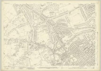 London (1915- Numbered sheets) II.9 (includes: Hornsey St Mary; Islington; St Pancras) - 25 Inch Map