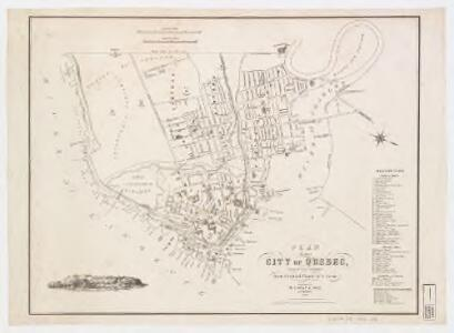 Plan of the city of Quebec