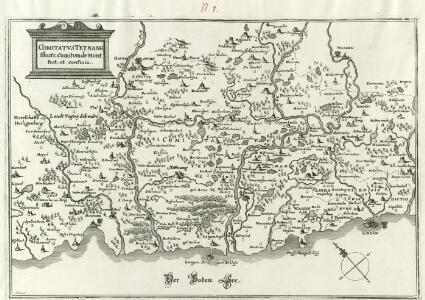 Comitatvs Tetnang Illustr. Comitum de Montfort, et confinia