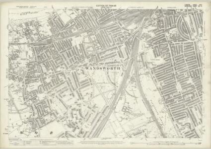 London (Edition of 1894-96) CXIV (includes: Battersea; Wandsworth Borough) - 25 Inch Map
