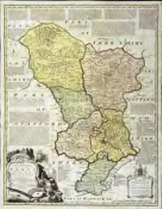 An accurate map of the county of Derby