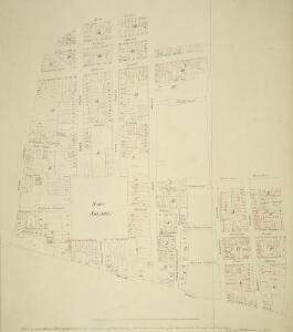 PLAN of the late Duke of PORTLAND'S Estate in the neighborhood of SOHO SQUARE - with the names (in red ink) of the Persons to whom the several parts were sold