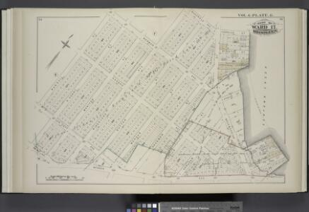 Vol. 6. Plate, G. [Map bound by Norman Ave. Kingsland Ave., Meserole Ave., Charlick St., Newtown Creek, Meeker Ave., Van Pelt Ave., N. Henry St., Van Cott Ave., Russell St.; Including Webster St., Pollock St., Nassau Ave., Monitor St., Sutton St., Morgan