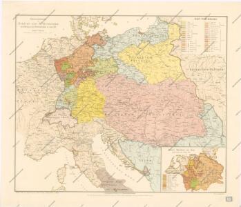 Übersichtskarte der Staaten von Mitteleuropa