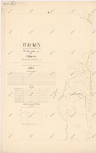 Katastrální mapa obce Fleky spolu s obcí Červené Dřevo WX-XI-27 ch