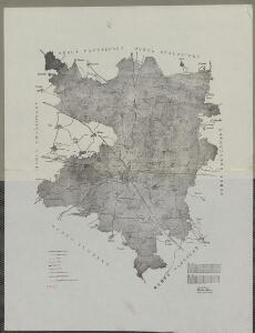 Mapa okresu Plzeň