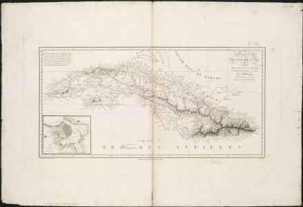 Carte de l'ile de Cuba