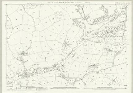 Devon XXXIII.13 (includes: Witheridge) - 25 Inch Map