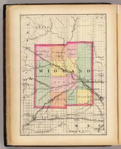(Map of Midland County, Michigan)